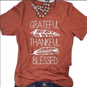 Tops - 🌙Grateful Thankful Blessed Women's T-shirt 🔅NWT
